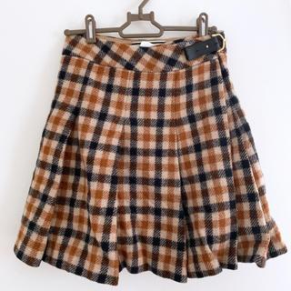 バーニーズニューヨーク(BARNEYS NEW YORK)のバイマレーネビルガー チェック柄 巻きスカート(ミニスカート)