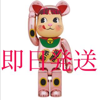 メディコムトイ(MEDICOM TOY)のベアブリック BE@RBRICK 招き猫 ペコちゃん 桃金メッキ 1000%(フィギュア)