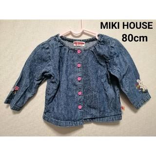 ミキハウス(mikihouse)のミキハウストップス ブラウス 80cm ベビー カットソー Tシャツ(ブラウス)