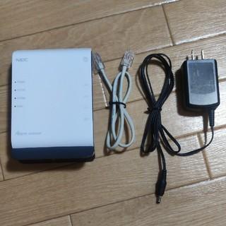 エヌイーシー(NEC)の【無線LAN】NEC PA-WF800HP(PC周辺機器)