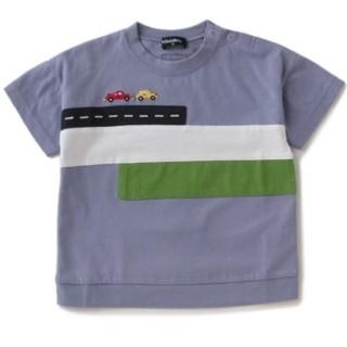 クレードスコープ(kladskap)のクレードスコープ 配色切り替え道路×車Tシャツ110(Tシャツ/カットソー)