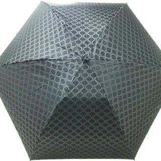 セリーヌ(celine)のセリーヌ 折りたたみ傘 - ダークグレー×黒(傘)