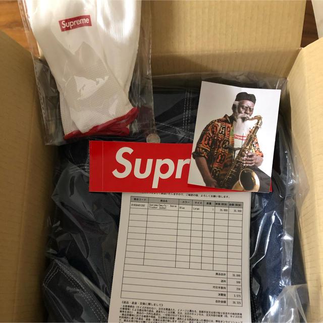 Supreme(シュプリーム)のSupreme Smurfs Denim Trucker Jacket Lサイズ メンズのジャケット/アウター(Gジャン/デニムジャケット)の商品写真