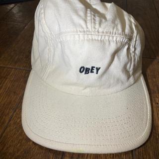 オベイ(OBEY)のOBEY CAP white ホワイト キャップ パネルキャップ(キャップ)