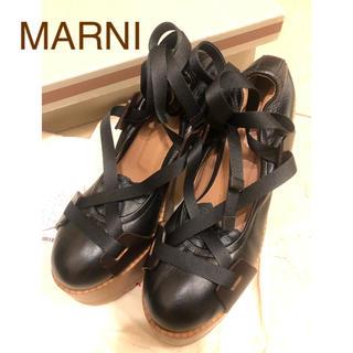マルニ(Marni)のMarni レースアップリボンパンプス(ハイヒール/パンプス)