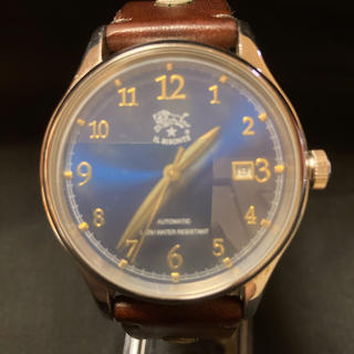 イルビゾンテ(IL BISONTE)のイルビゾンテ 自動巻 ネイビー文字盤 レザーバンド(腕時計(アナログ))