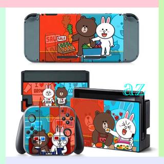 ニンテンドースイッチ(Nintendo Switch)の◎SALE◎ ブラウン&コニー 任天堂Switch 保護スキンシール✦汚れ防止(その他)