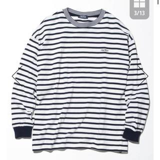 ノーティカ(NAUTICA)のビッグシルエット ワンポイント ボーダー Tシャツ (Tシャツ/カットソー(七分/長袖))