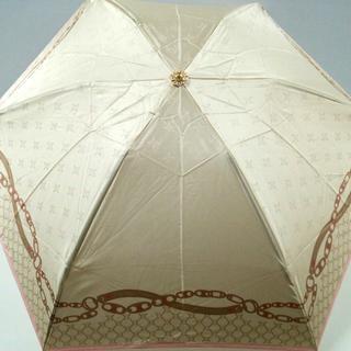 セリーヌ(celine)のセリーヌ 折りたたみ傘 ベージュ×マルチ(傘)