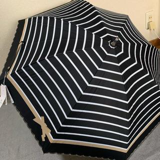 ランバンオンブルー(LANVIN en Bleu)の新品 ランバンオンブルー  晴雨兼用傘 「黒」(傘)