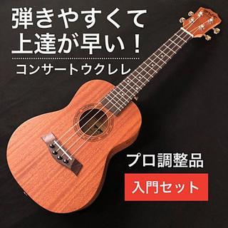【弾きやすさ重視】BWS製 マホガニー・コンサート・ウクレレセット【入門セット】(その他)