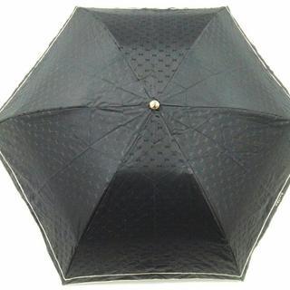 セリーヌ(celine)のセリーヌ 折りたたみ傘 - 黒×シルバー(傘)