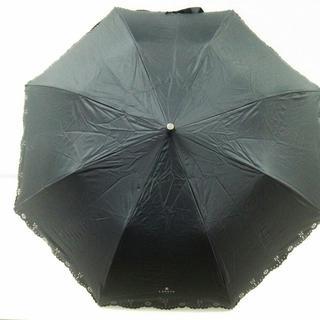 ランバンオンブルー(LANVIN en Bleu)のランバンオンブルー 折りたたみ傘 - 黒(傘)