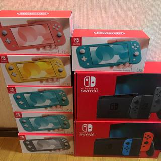 ニンテンドースイッチ(Nintendo Switch)のnintendo switch lite 6台 switch 2台セット(家庭用ゲーム機本体)
