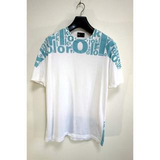 カラー(kolor)の【良品】kolor ロゴTシャツ カラー 白×ミントグリーン サイズ3(Tシャツ/カットソー(半袖/袖なし))