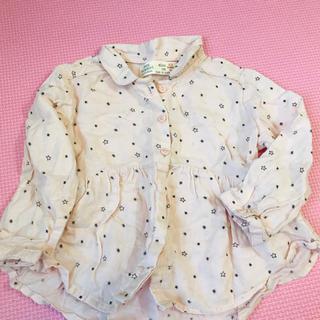 ザラキッズ(ZARA KIDS)の星柄 ピンクシャツ(シャツ/カットソー)