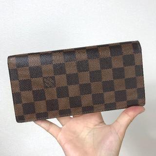 ルイヴィトン(LOUIS VUITTON)の【未使用品同様】二つ折り財布 ルイヴィトン ダミエ ブラザ(折り財布)