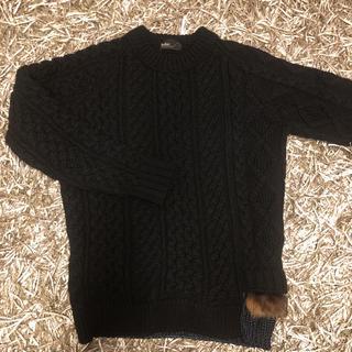 カラー(kolor)のkolor カラー ニット ブラック サイズ1(ニット/セーター)