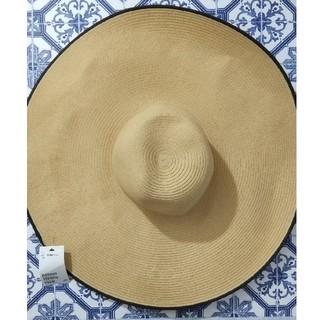 エイチアンドエム(H&M)のH&M  ツバ広麦わら帽子(麦わら帽子/ストローハット)
