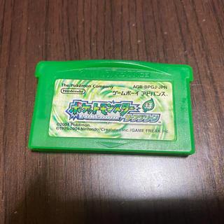 ゲームボーイアドバンス(ゲームボーイアドバンス)のポケットモンスター リーフグリーン ゲームボーイアドバンス(携帯用ゲームソフト)