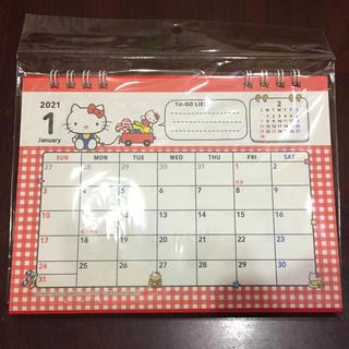 ハローキティ(ハローキティ)のハローキティ キティ 2021 卓上 カレンダー(カレンダー/スケジュール)