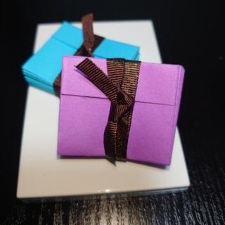 小さな封筒[ブルー.パープル](その他)