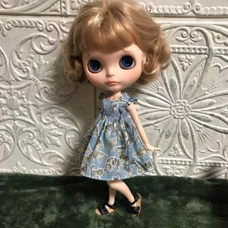 小さな袖のワンピース 60(人形)
