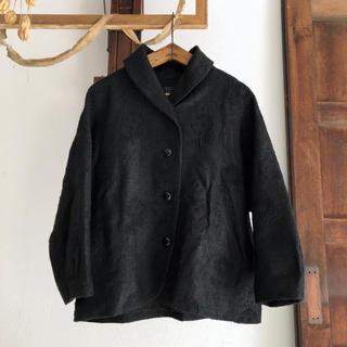 ミナペルホネン(mina perhonen)のレア♡ミナペルホネン chum シルク 刺繍 ジャケット ショートコート(テーラードジャケット)