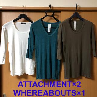 アタッチメント(ATTACHIMENT)のカットソー 3枚セット アタッチメント ウェラアバウツ(Tシャツ/カットソー(七分/長袖))