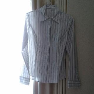 クリアインプレッション(CLEAR IMPRESSION)のクリアインプレッション長袖ストライプシャツSサイズ7号(シャツ/ブラウス(長袖/七分))