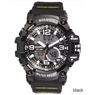 ■2020新品!■ ダイバーズウォッチ 黒ベゼル下2 メンズ レディース 腕時計(腕時計(デジタル))