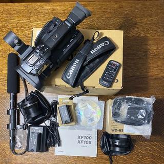 キヤノン(Canon)のCanon 業務用デジタルビデオカメラ XF100 アクセサリセット付属(ビデオカメラ)