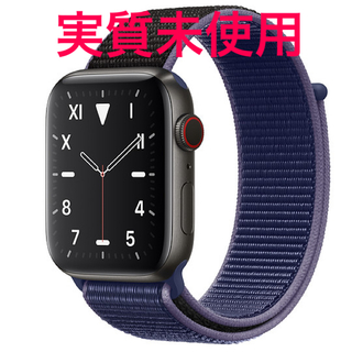 アップルウォッチ(Apple Watch)のAppleWatch Series5 44m チタニウム(腕時計(デジタル))