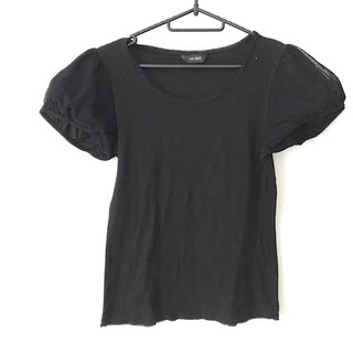 ピンクハウス(PINK HOUSE)のピンクハウス 半袖カットソー サイズM 黒(カットソー(半袖/袖なし))