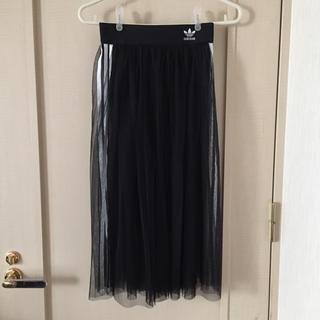 アディダス(adidas)のアディダス チュール スカート 黒(ロングスカート)