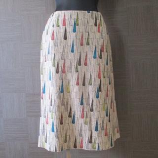 ミナペルホネン(mina perhonen)のミナペルホネン mina sunny rain スカート M 日本製 秋冬(ひざ丈スカート)