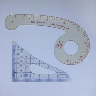 Dカーブルーラー 縮尺定規(4分の1) 中古(型紙/パターン)