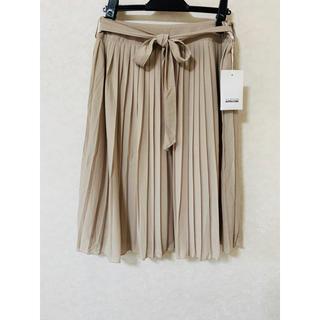n580  【新品】ALPHA CUBIC プリーツスカート