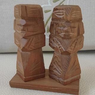 アイヌ木彫り人形★ニポポ人形★北海道(彫刻/オブジェ)
