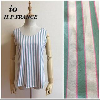 アッシュペーフランス(H.P.FRANCE)のio H.P.FRANCE コットンノースリーブ サイズ2(シャツ/ブラウス(半袖/袖なし))