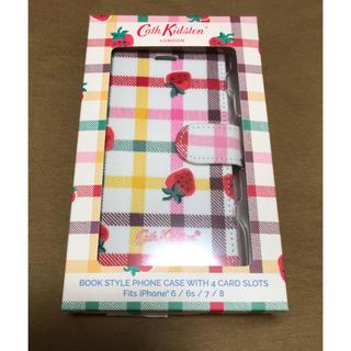 キャスキッドソン(Cath Kidston)の新品★ストロベリーギンガム スマホケース iPhone 箱付き キャスキッドソン(iPhoneケース)