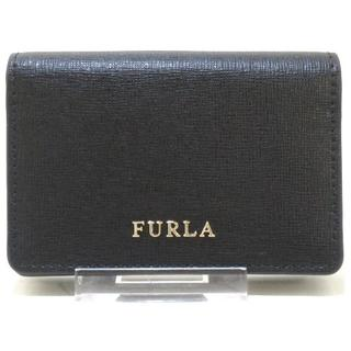 フルラ(Furla)のフルラ 名刺入れ美品  バビロン 874701 黒(名刺入れ/定期入れ)