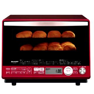 シャープ(SHARP)のえん様専用: 加熱水蒸気オーブン31L 2段調理レッド RE-SS10C-R(電子レンジ)