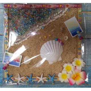 💥💟プルメリア&南国🌴の砂浜🌟コルクボード(雑貨)