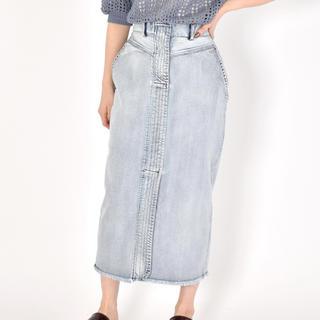 ダブルクローゼット(w closet)の前ステッチタイトスカート♡w closet(ロングスカート)