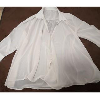 エニィファム(anyFAM)のシアーシャツ(シャツ/ブラウス(長袖/七分))