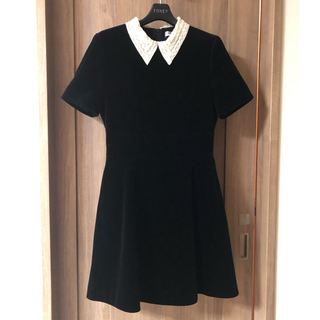 クリスチャンディオール(Christian Dior)の美品♡Dior 襟付き半袖ワンピース(ひざ丈ワンピース)