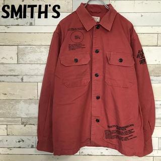 スミス(SMITH)の【人気】SMITH'S/スミス ワークシャツ レッド サイズM(シャツ)