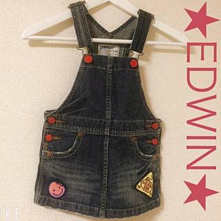 エドウィン(EDWIN)のEDWIN★エドウィン♡デニム ジャンパースカート( ˘͈ ᵕ ˘͈  )(ワンピース)