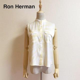 ロンハーマン(Ron Herman)の新品 Ron Herman タイダイ バンドカラーノースリーブブラウス XS(シャツ/ブラウス(半袖/袖なし))